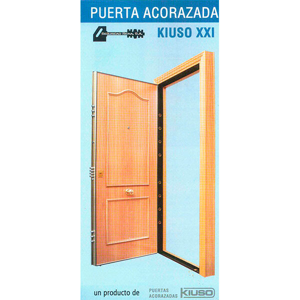 Puerta acorazada KIUSO XXI lisa Sapely/Sapely Instalada